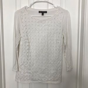 Outback Red White Crochet Lace Blouse - PERFECT!